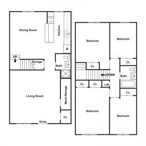 Lake View Apartments Floor Plan Image 1