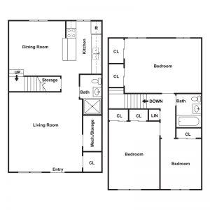 Lake View Apartments Floor Plan Image 2