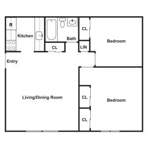 Lake View Apartments Floor Plan Image 3