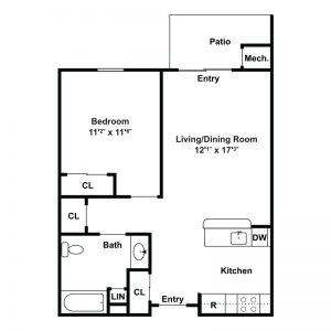 Linden Lake Senior Apartments Floor Plan Image 2