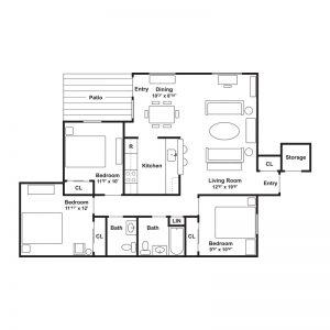 Linderman Creek Apartments Floor Plan Image 1