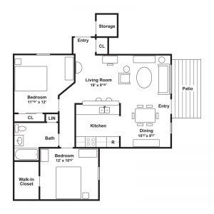 Linderman Creek Apartments Floor Plan Image 2