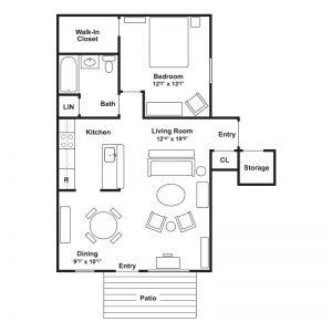 Linderman Creek Apartments Floor Plan Image 3