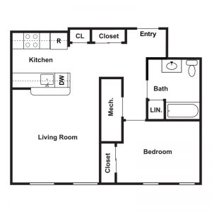 Market Apartments at Corpus Christi Floor Plan Image 1