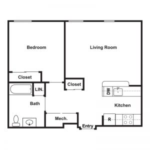 Market Apartments at Corpus Christi Floor Plan Image 2