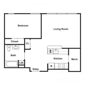 Market Apartments at Corpus Christi Floor Plan Image 3