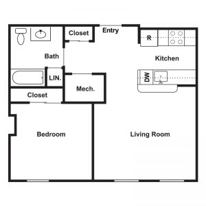 Market Apartments at Corpus Christi Floor Plan Image 4