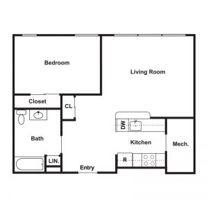 Market Apartments at Corpus Christi Floor Plan Image 5