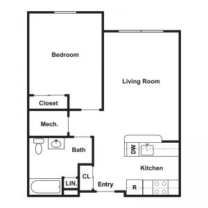 Market Apartments at Corpus Christi Floor Plan Image 6