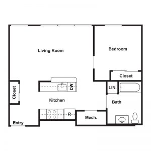 Market Apartments at Corpus Christi Floor Plan Image 7