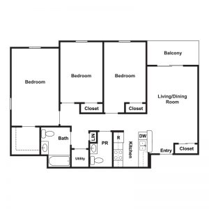 Marley Meadows Apartments Floor Plan Image 1