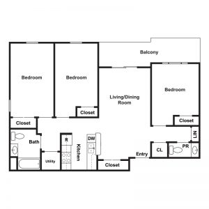 Marley Meadows Apartments Floor Plan Image 4