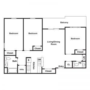 Marley Meadows Apartments Floor Plan Image 4