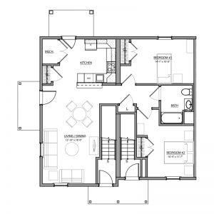 Meadow Lark Run Apartments Floor Plan Image 2