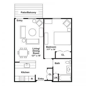 Meadowside I Apartments Floor Plan Image 2