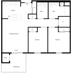 MeadowView at Clifton Park Apartments Floor Plan Image 2