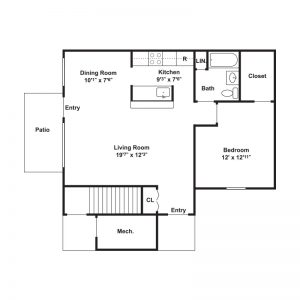 Millstream Apartments Floor Plan Image 1