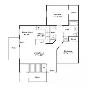 Millstream Apartments Floor Plan Image 2
