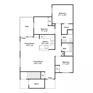 Millstream Apartments Floor Plan Image 3