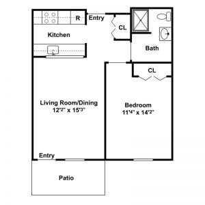 Morningside Senior Apartments Floor Plan Image 1