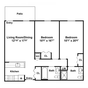 Morningside Senior Apartments Floor Plan Image 3
