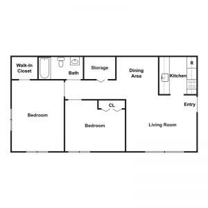 Peppertree Apartments Floor Plan Image 3