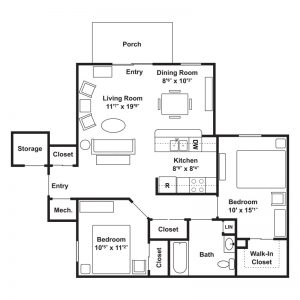 Poets Landing Apartments Floor Plan Image 2