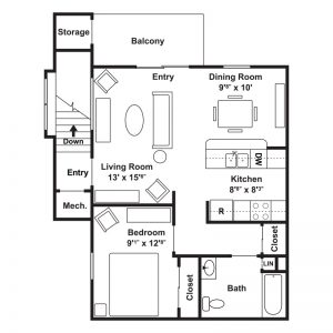 Poets Landing Apartments Floor Plan Image 6