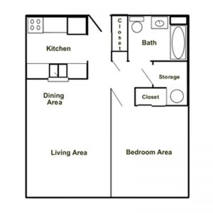 Portville Manor Apartments Floor Plan Image 1