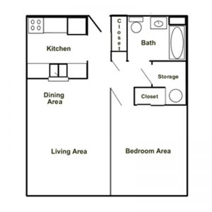 Portville Square Apartments Floor Plan Image 1