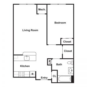 River Pointe at Drum Hill Apartments Floor Plan Image 1