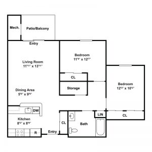 Seneca Place Apartments Floor Plan Image 2