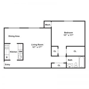 Shakespeare Park Apartments Floor Plan Image 1