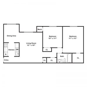 Shakespeare Park Apartments Floor Plan Image 2