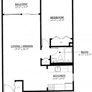 Southeast Towers II Floor Plan Image 4