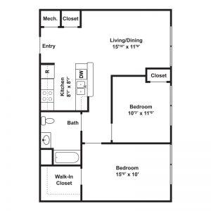 Springside School Apartments Floor Plan Image 2