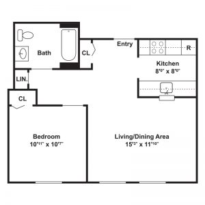 St. Joseph's Apartments Floor Plan Image 1