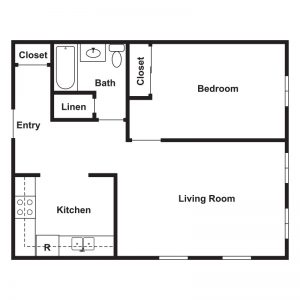 St. Michael's Senior Apartments I & II Floor Plan Image 1