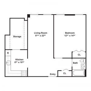 St. Patrick's Apartments Floor Plan Image 2