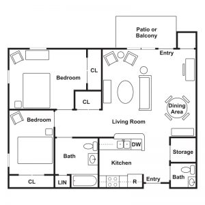 Stone Ledge Apartments Floor Plan Image 2