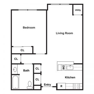 Sunnybrook Senior Apartments Floor Plan Image 1