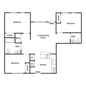 Tajdeed Residences Floor Plan Image 2
