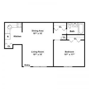 Tamarack Station Apartments Floor Plan Image 1