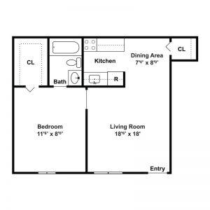Tamarack Station Apartments Floor Plan Image 2