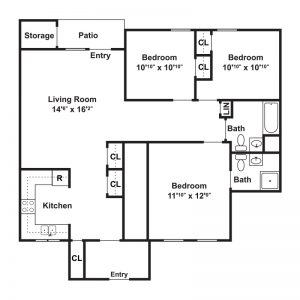 The Ledges Apartments Floor Plan Image 3
