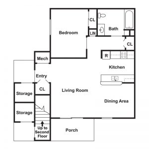 The Woodlands at Northside Apartments Floor Plan Image 1