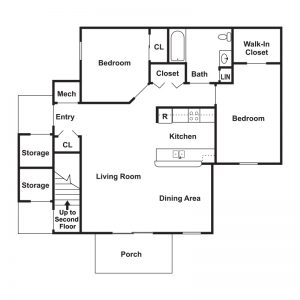 The Woodlands at Northside Apartments Floor Plan Image 2