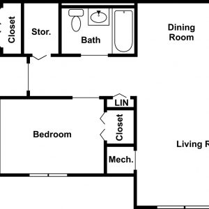 Tioga View Apartments Floor Plan Image 2