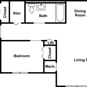 Tioga View Apartments Floor Plan Image 3