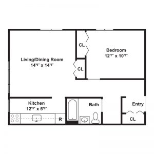 Towpath Manor Apartments Floor Plan Image 1